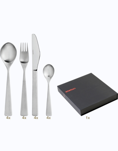Stelton Maya table set 16 pcs hollow handle Classic Composition