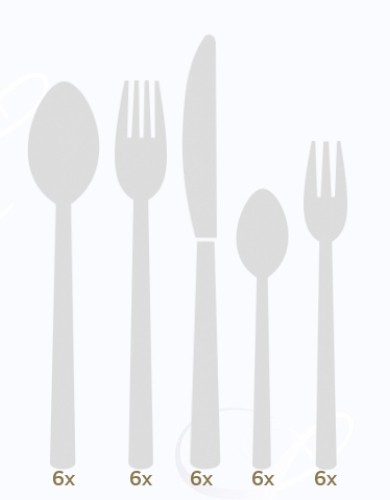 BSF Padova dinner set 30 pcs monobloc  Composition