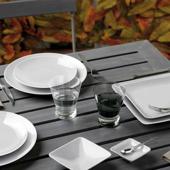 guy degrenne modulo blanc porzellan bei besteckliste. Black Bedroom Furniture Sets. Home Design Ideas