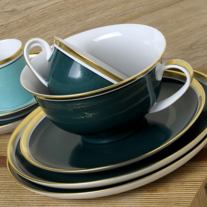 reichenbach colour iii petrol porzellan bei besteckliste. Black Bedroom Furniture Sets. Home Design Ideas