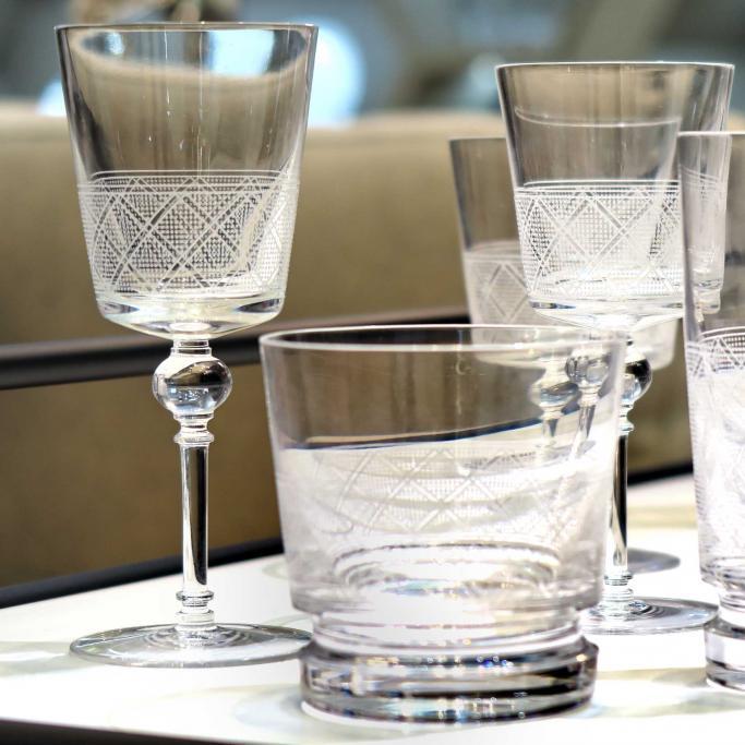 Christofle jardin d 39 eden glassware at besteckliste for Jardin d eden