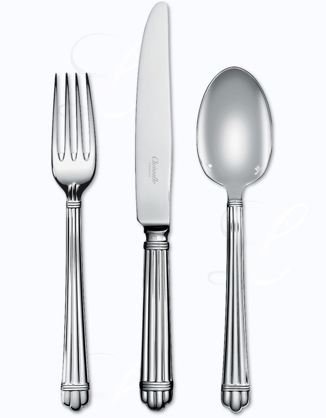 christofle aria cutlery in silverplated at besteckliste
