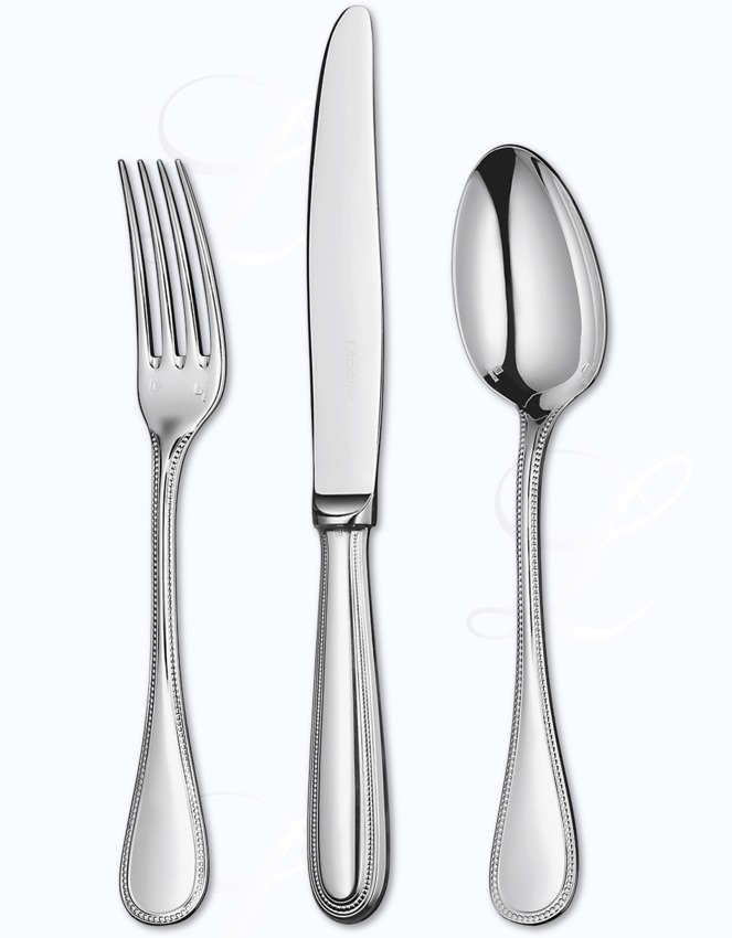 Christofle Perles 2 Cutlery In Stainless At Besteckliste