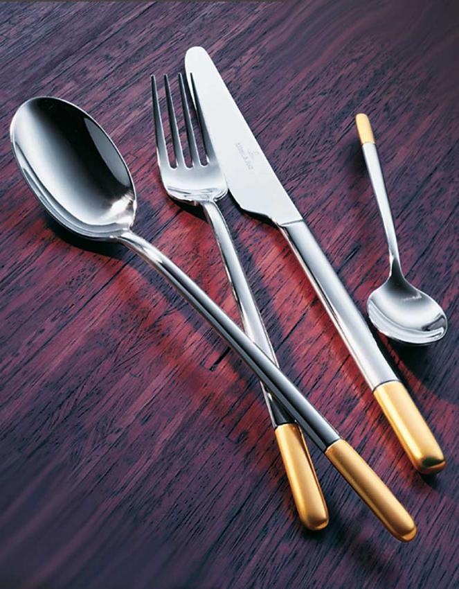 Villeroy Boch Ella Teilvergoldet Cutlery In Stainless W Gold