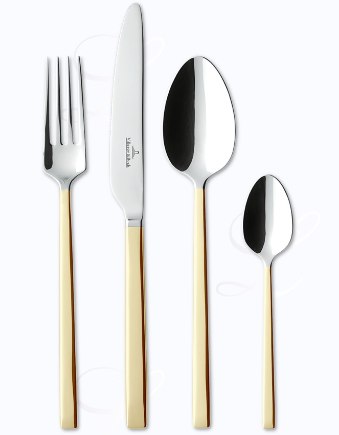 Villeroy Boch La Classica Teilvergoldet Cutlery In Stainless W Gold Accents