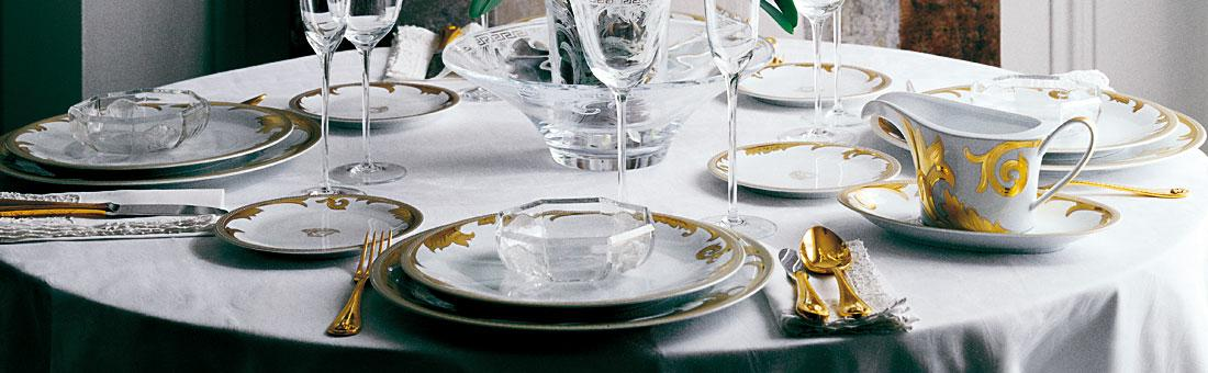 Versace - The fascinating style of this Italian fashion emporium makes for a glamorous home. & Versace cutlery in gold plated silver plated and PVD Black