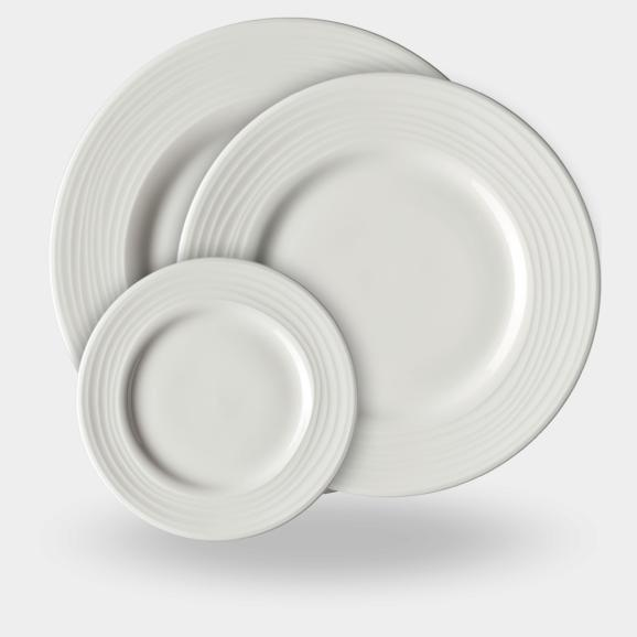 Rosenthal Jade Linea porcelain  - from underplate to bread