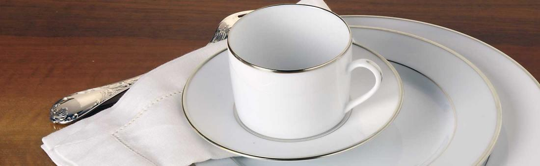 Christofle Albi Platine dinnerware