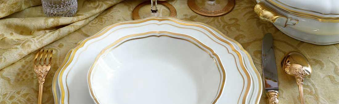 Raynaud Argent Polka Or dinnerware