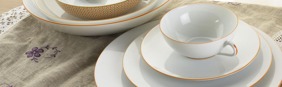 Raynaud Monceau Orange Abricot dinnerware