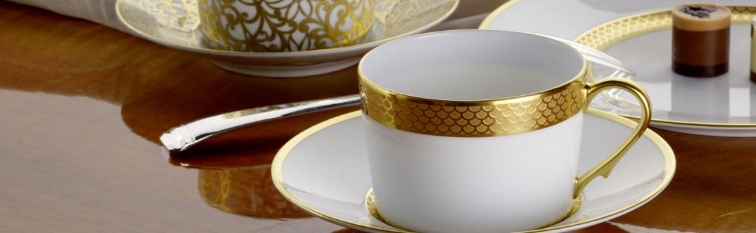 Raynaud Odyssee Or Blanc dinnerware