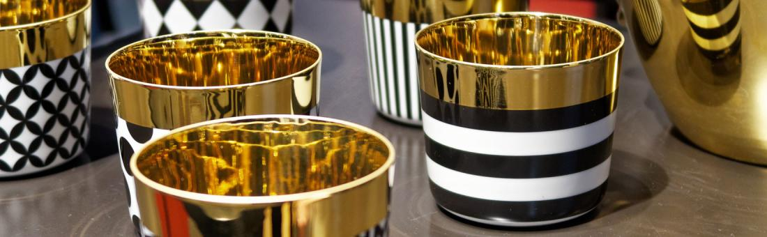Sieger by Fürstenberg Sip of Gold table accessories