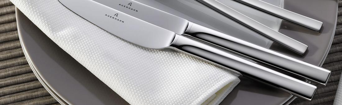Auerhahn cutlery in stainless 18/10 and silverplated by Reiner