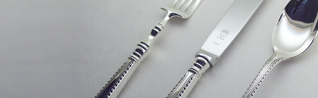 Topázio cutlery in sterling silver