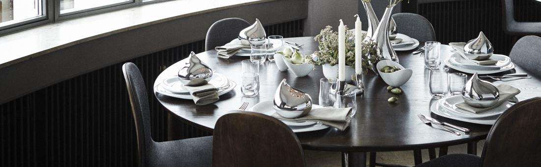 Georg Jensen cutlery in stainless steel 18/8 and sterling silver